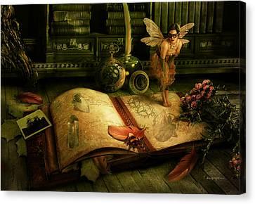 The Journal Canvas Print by Cassiopeia Art