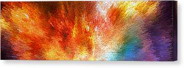 The Journey - Abstract Art By Sharon Cummings Canvas Print by Sharon Cummings