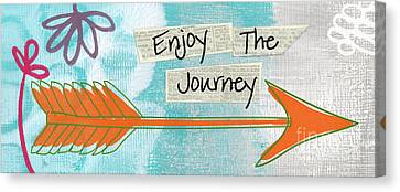 The Journey Canvas Print by Linda Woods