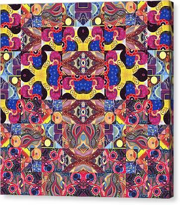 The Joy Of Design Mandala Series Puzzle 3 Arrangement 6 Canvas Print by Helena Tiainen