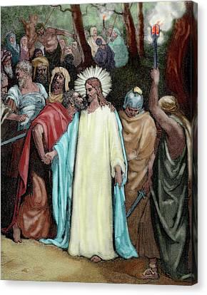 The Judas Kiss (1866 Canvas Print by Prisma Archivo