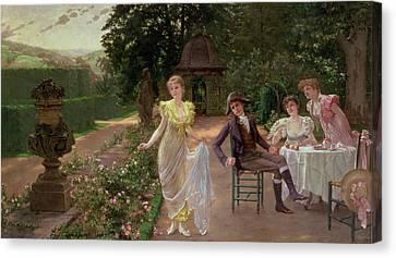 The Judgement Of Paris Canvas Print by Hermann Koch