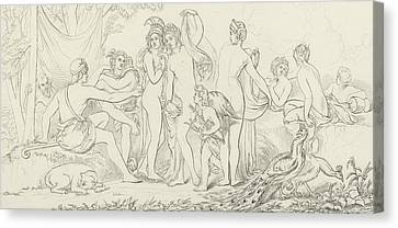 The Judgement Of Paris Canvas Print by William Etty