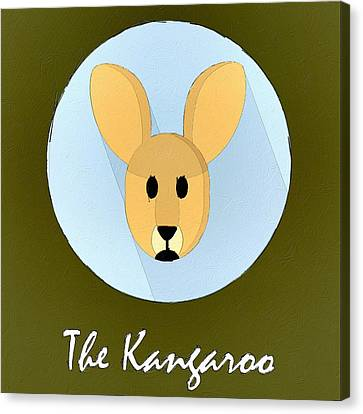 The Kangaroo Cute Portrait Canvas Print by Florian Rodarte