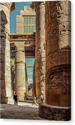 The Karnak Temple Canvas Print by Erik Brede