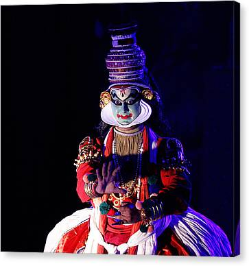 The Kathakali Dance Canvas Print by Money Sharma