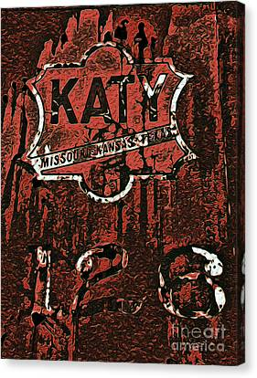 The K A T Y Railroad Sign Canvas Print by R McLellan