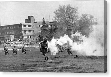The Kent State Massacre Canvas Print by Underwood Archives