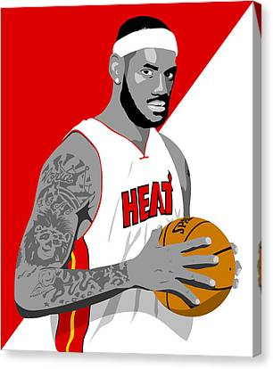 The King Lebron James Canvas Print by Paul Dunkel