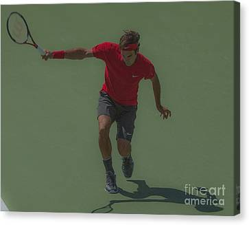 The King Of Tennis Canvas Print by Terry Cosgrave