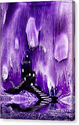 The Kings Purple Castle Painting In Wax Canvas Print by Simon Bratt Photography LRPS