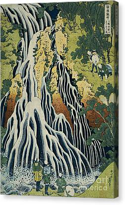 The Kirifuri Waterfall Canvas Print by Hokusai