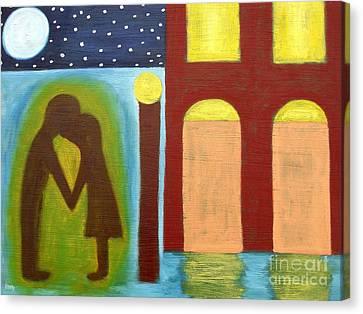 The Kiss Goodnight Canvas Print by Patrick J Murphy