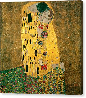 The Kiss Canvas Print by Gustive Klimt