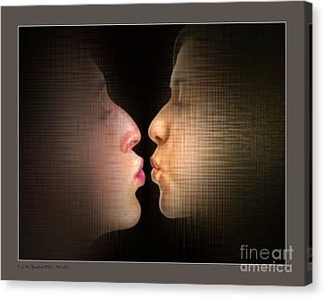 The Kiss Canvas Print by Pedro L Gili