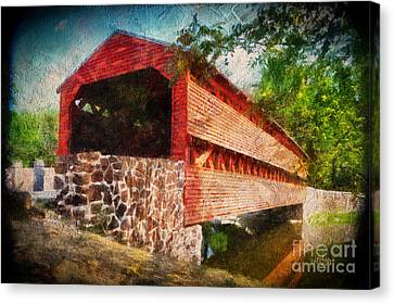 The Kissing Bridge Canvas Print by Lois Bryan