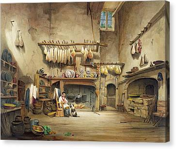 The Kitchen Canvas Print by English School