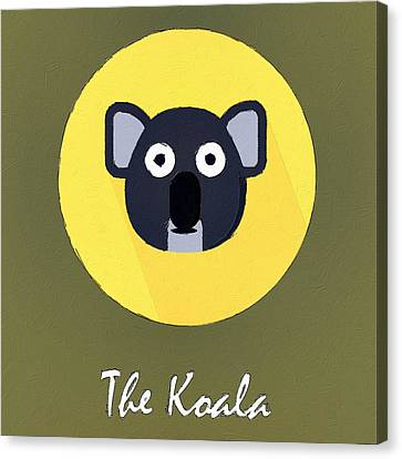 The Koala Cute Portrait Canvas Print by Florian Rodarte