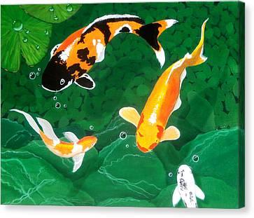 The Koi Pond Canvas Print by Karyn Robinson