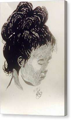 The Korean Girl Canvas Print by Franky A HICKS