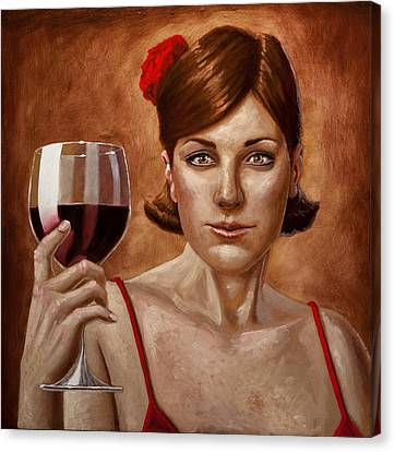 The Lady Red Canvas Print by Mark Zelmer