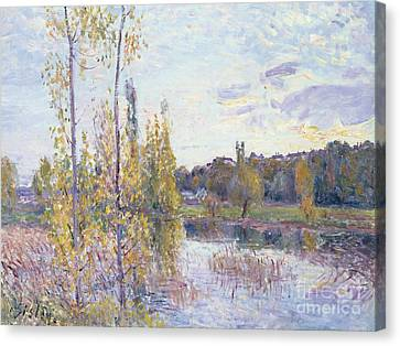 The Lake At Chevreuil Canvas Print by Alfred Sisley