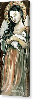 The Lamb Canvas Print by Carrie Joy Byrnes