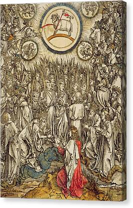 The Lamb Of God Appears On Mount Sion, 1498  Canvas Print by Albrecht Durer or Duerer