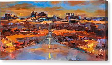 The Land Of Rock Towers Canvas Print by Elise Palmigiani