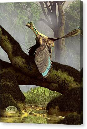 The Last Dinosaur Canvas Print by Daniel Eskridge