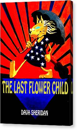 The Last Flower Child Book Cover Art By Stanley Mouse Canvas Print by Dava Sheridan