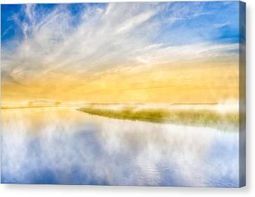 The Last Sea - Golden Coastal Dawn Canvas Print by Mark E Tisdale