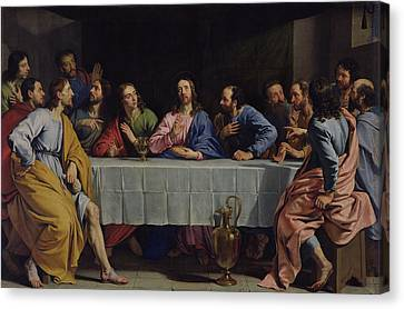 The Last Supper Canvas Print by Philippe de Champaigne