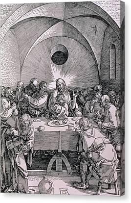 The Last Supper From The 'great Passion' Series Canvas Print by Albrecht Duerer