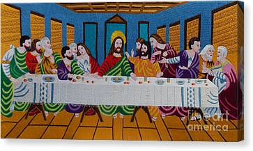 The Last Supper Hand Embroidery Canvas Print by To-Tam Gerwe