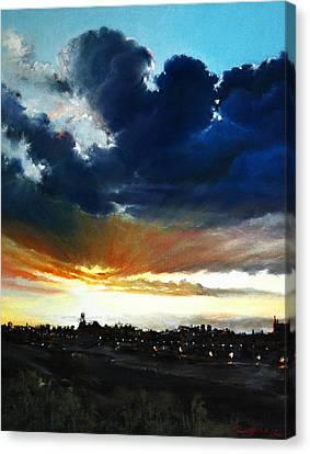 The Last Touch Canvas Print by Roman Burgan