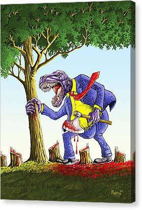The Last Tree Canvas Print by Anthony Mwangi