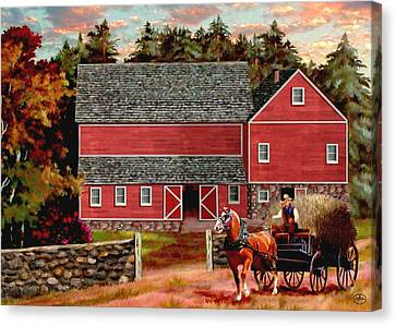 The Last Wagon Canvas Print by Ron Chambers