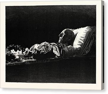 The Late Count Von Moltke Lying In State In The Palace Canvas Print by German School