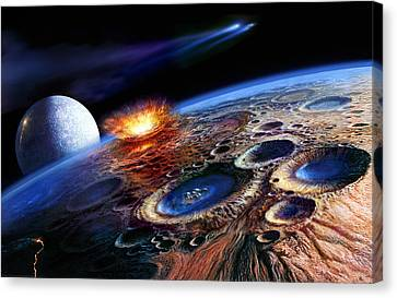 The Late Heavy Bombardment Canvas Print by Don Dixon