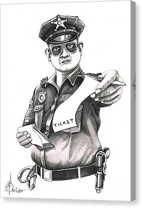 The Law Canvas Print by Murphy Elliott