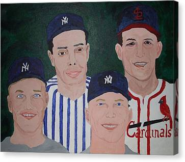 The Legends Of The Game Canvas Print by Pharris Art