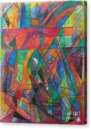 The Letter Dalet 2 Canvas Print by David Baruch Wolk