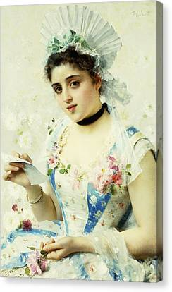 The Letter Canvas Print by Federigo Andreotti