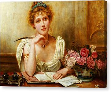 The Letter  Canvas Print by George Goodwin Kilburne