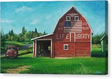 The Liberty Barn Canvas Print by Craig Shillam