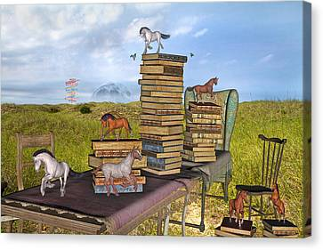 The Library Your Local Treasure Canvas Print by Betsy Knapp