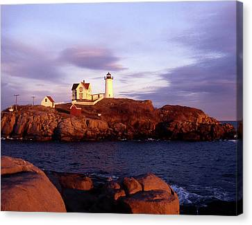 The Light On The Nubble Canvas Print by Skip Willits