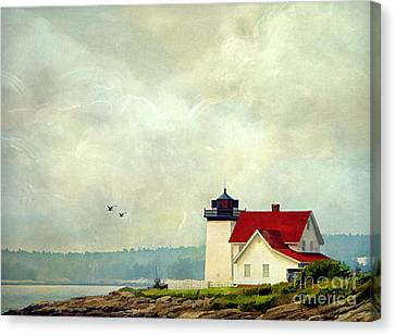 The Lighthouse Canvas Print by Darren Fisher