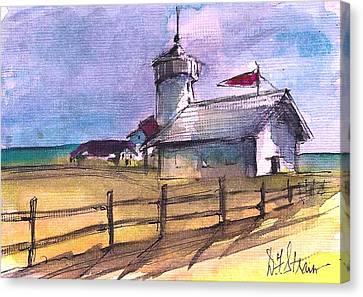 The Lighthouse Canvas Print by Diane Strain